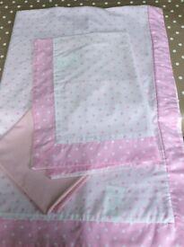 next single bedding and laura ashley curtians. pink polka dot.