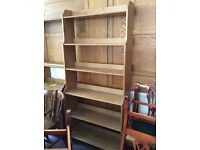 Tall pine solid bookcase