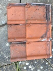 90 Redland Postel Clay Roof Tiles and 9 Ridge Tiles for sale