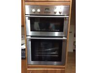 Double oven stainless steel