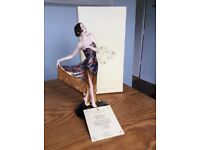 Limited edition Coalport figurine, The Flapper, in box + certificate of authenticity