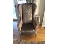 2 piece sofa, chair & footstool