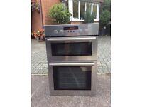 John Lewis built in double electric oven JLBIDOS904