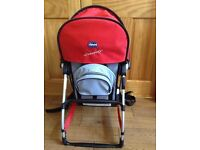 RED&BLACK CHICCO CADDY BABY CHILD CARRIER- WALK/ HIKING