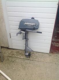 Johnson 2hp outboard engine.