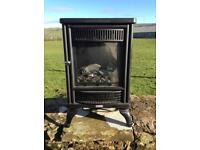 Flame effect electric fire.