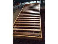 Solid oak trestle bed