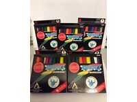 Bold, Vibrant WASHABLE MARKER Pen Set of 8 with FREE Pen Tower