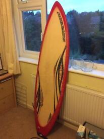 Fish surf board