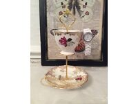 Vintage Cup and Saucer Jewellery Stand