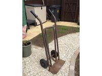 Metal sack truck. Strong metal sack truck with solid rubber wheels