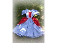 Cinderella Fancy dress costume handmade vintage red blue size M L