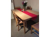 Stunning dining table + 4 chairs! ON SALE! 50£!