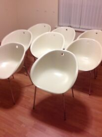 White Kitchen/dining/waiting room chairs for sale