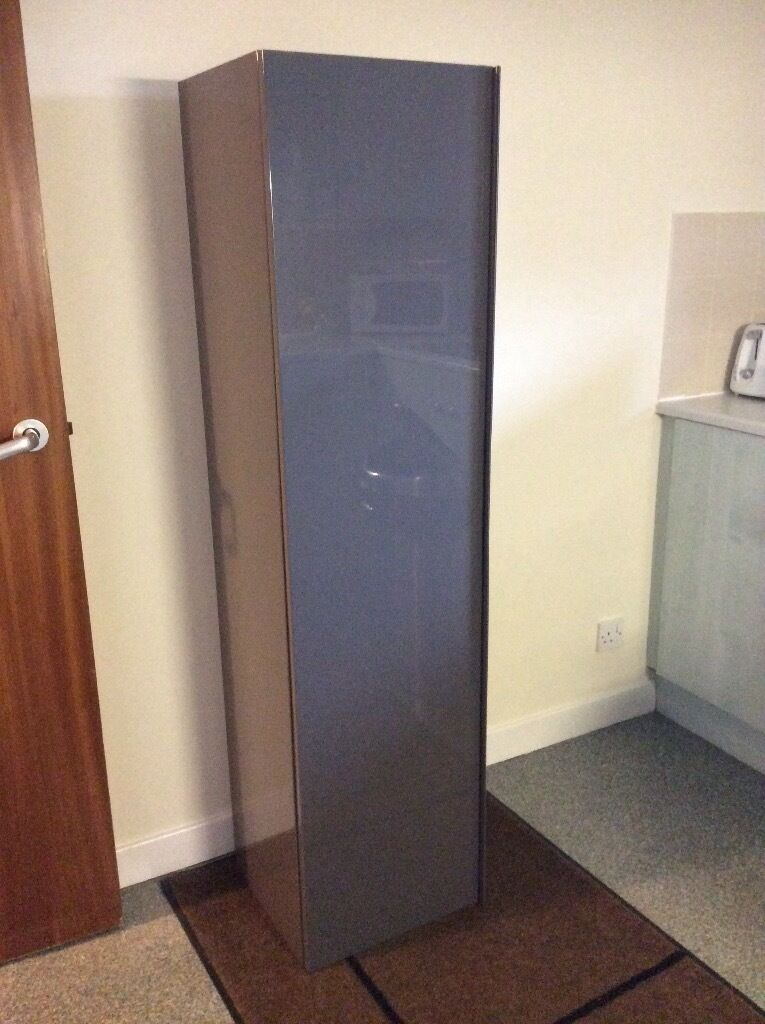 High gloss grey wall mounted bathroom cabinet from Ikea ...