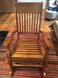 Stunning solid wooden rocking chair