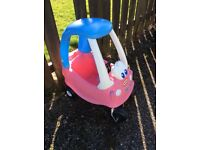 Little tikes pink cozy coupe car
