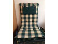 6 Garden chair cushions