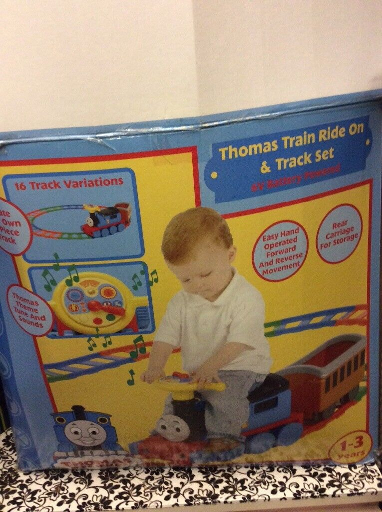 Thomas the tank engine sit on train and track