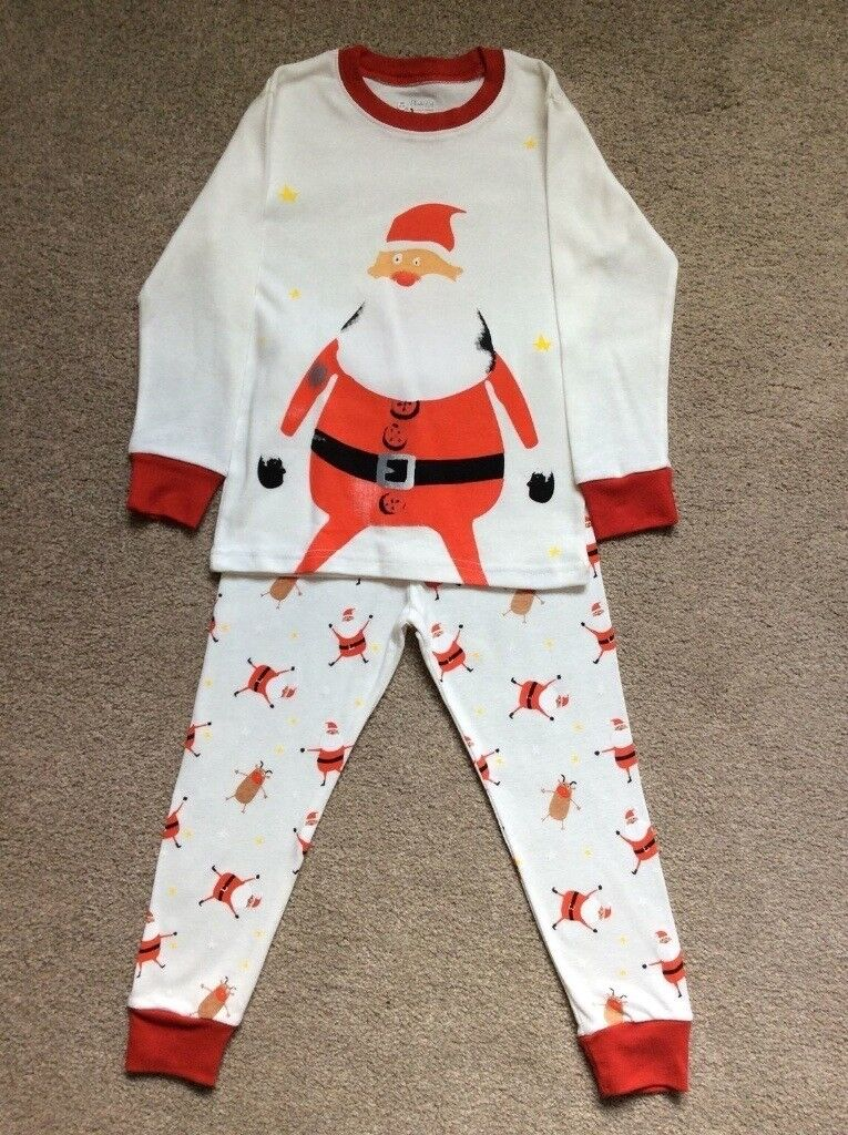 Childrens Father Christmas Pyjamas. Age 5-6 Years. Brand New Without Tags.