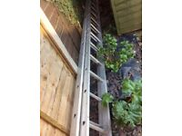 Double 12' aluminium ladder