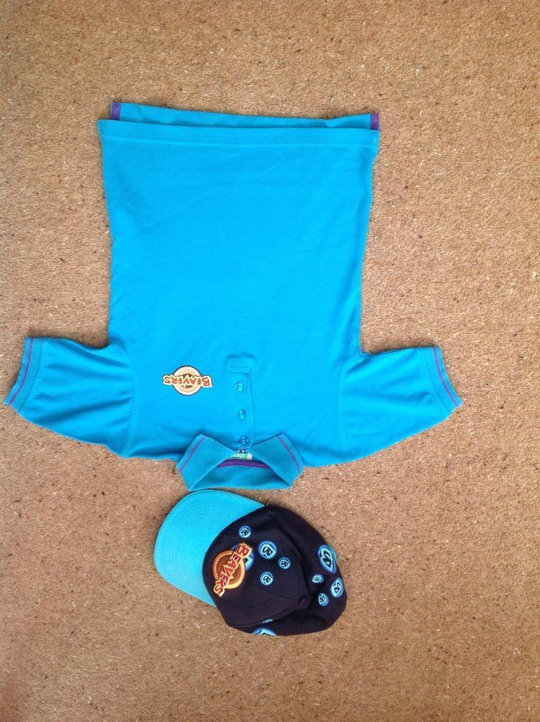 """Beaver short sleeved polo shirt and capin Beeston, NottinghamshireGumtree - 24"""" chest beaver polo shirt , very good condition and beaver cap"""