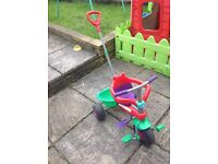 Push along toddler and baby trike