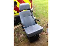Rear seat for van, camper van or ambulance.