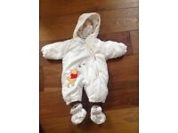 0-3month snowsuits Disney pooh and mamas and papas