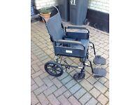 Push Along Foldaway Transit Wheelchair