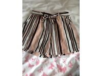 New look striped shorts