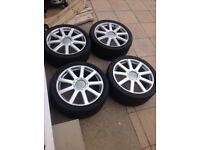 """vw transporter t5 alloys 21"""" came off a audi q7"""