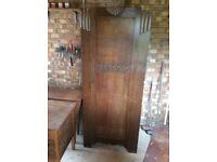 Antique Wardrobe H 186cm W 76cm D 40cm