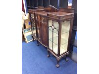 Antique Gothic Side Display Cabinet