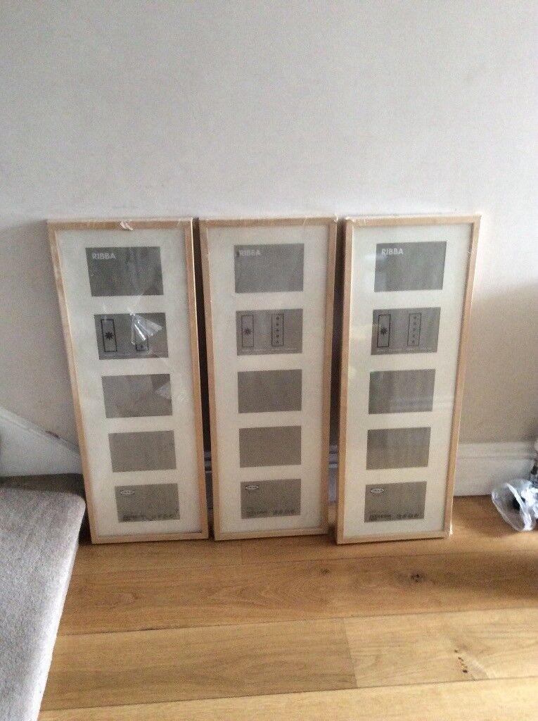 Ikea 5 aperture wood photo frames (new)