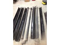 Assorted lengths of cast iron guttering and down pipes