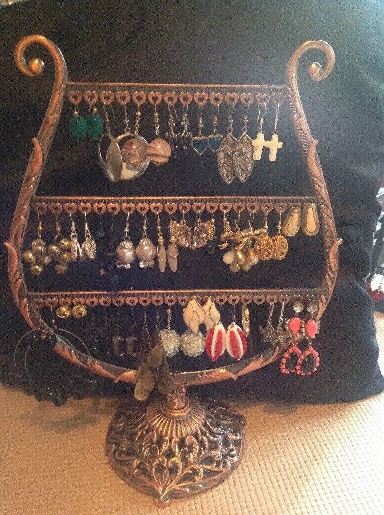Costume jewellery - pierced earrings various styles