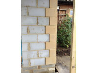 NEW Stone Quoins Bricks + 4 bullseye stone windows rrp:£1800 (have receipt) *DEL*
