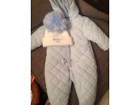 Baby boys baby blue designer clothes,jackets,hats,snow suits,shoes