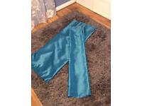 Dunelm turquoise curtains