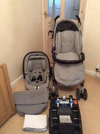Mamas and Papas pushchair and pram all in one with car seat and accessories