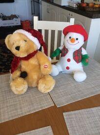 2 singing Snowman/Bear