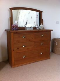 Victorian Pine Drawers & Mirror from M&S