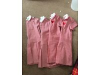 X4 red school dresses £10