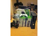 Xbox 360 Console Slim 250GB-20 Games Bundle- HDMI Cable- Remote Control- New Microphone headset