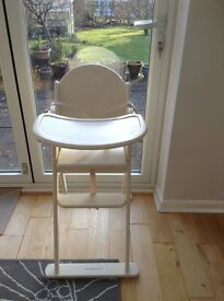 Cream Mothercare wooden high chair