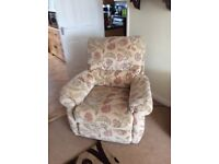 3 seater sofa and 1 power reclining chair