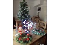 Christmas bundle ,tree,wreaths,colour changing light and ornaments