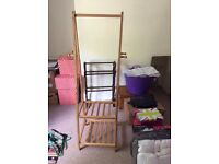 Bamboo clothes/shoe rack