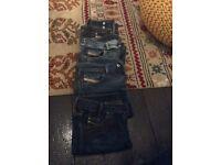 4 pairs of ladies diesel jeans